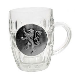 Game of Thrones beer glass Lannister Metallic Logo