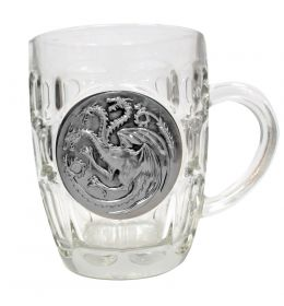Game of Thrones beer glass Targaryen Metallic Logo