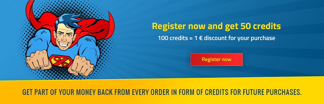 Register now and get 50 credits
